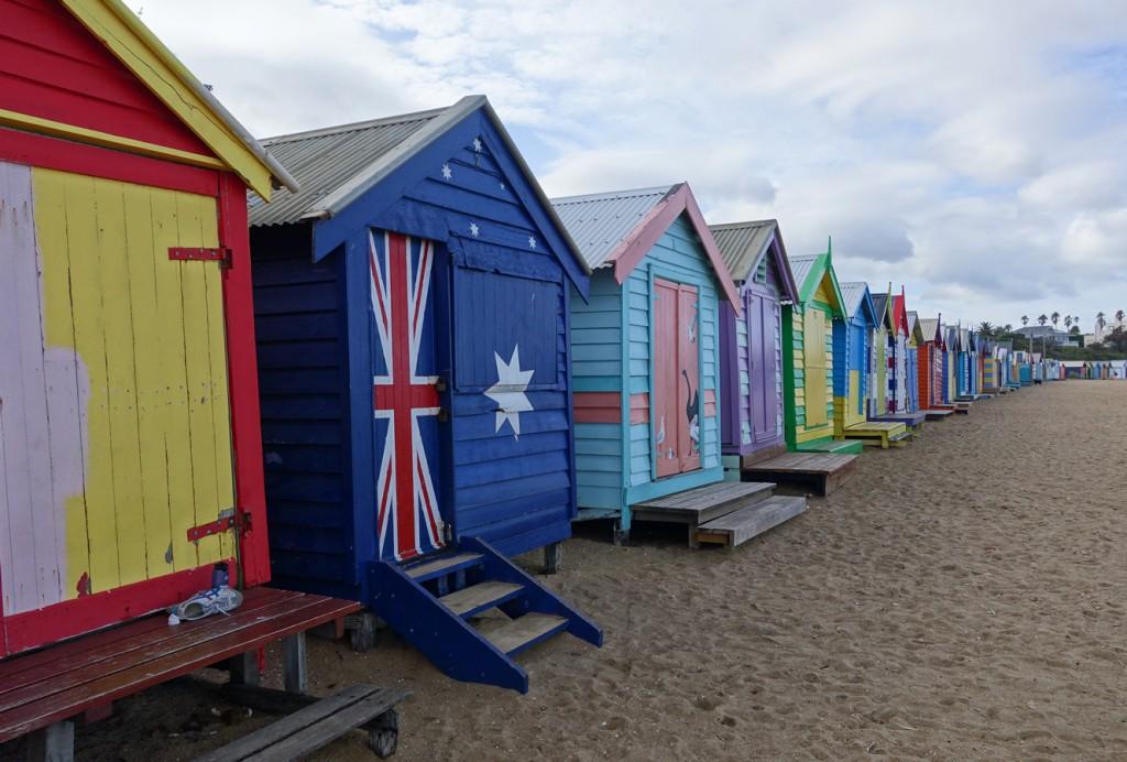 Cabanes sur la plage de Brighton Beach