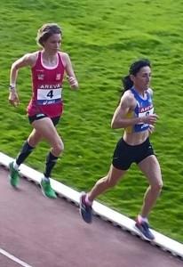 Elodie Navarro sur la piste