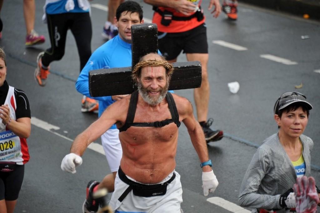 Jésus marathon de La Rochelle